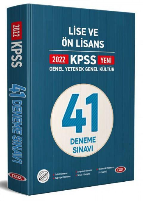 KPSS Lise Ve Ön Lisans 41 Deneme Sınavı 2022 - Data