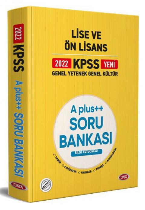 KPSS Lise Ve Ön Lisans A Plus Soru Bankası 2022 - Data