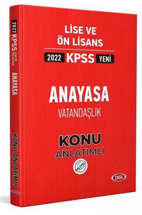 KPSS Lise Ve Ön Lisans Anayasa Vatandaşlık Konu Kitabı 2022 - Data