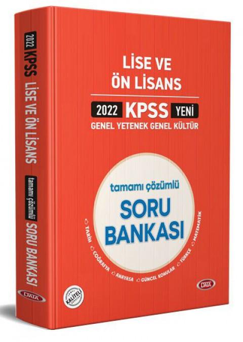KPSS Lise Ve Ön Lisans Tamamı Çözümlü Soru Bankası 2022 - Data