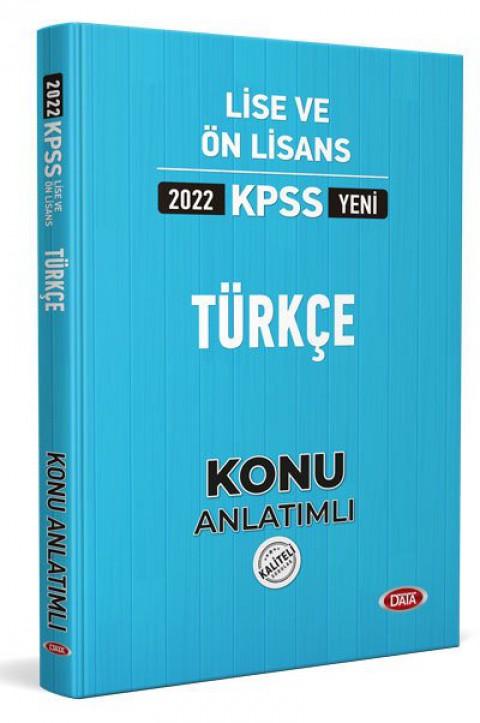 KPSS Lise Ve Ön Lisans Türkçe Konu Kitabı  2022 - Data