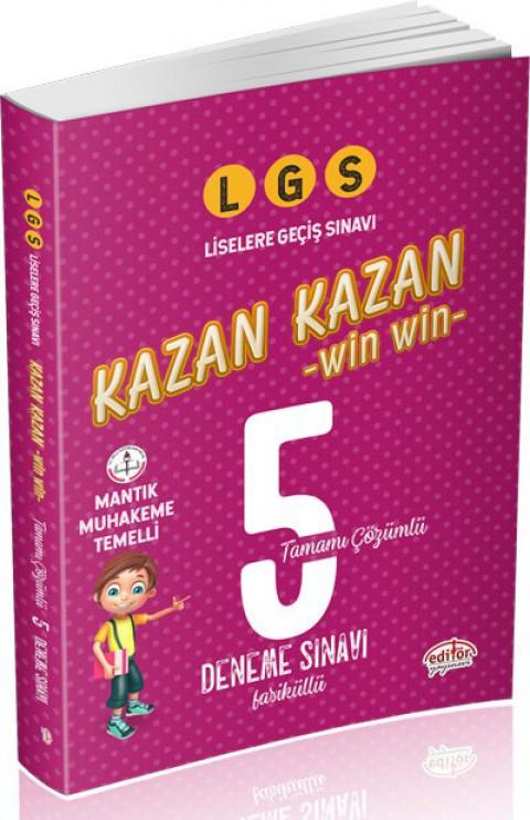 LGS Kazan Kazan Tamamı Çözümlü 5 Deneme Sınavı  - Editör