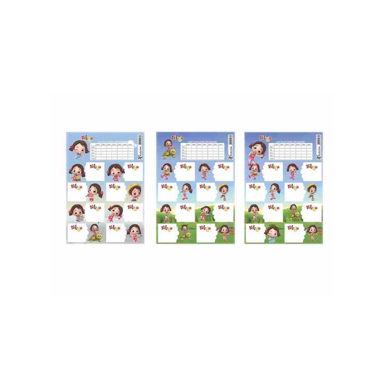 Niloya Ders Programlı 3 Lü Etiket