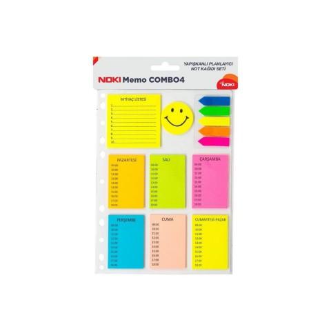 Noki Memo Combo 4 Yapışkan Not Kağıdı Seti