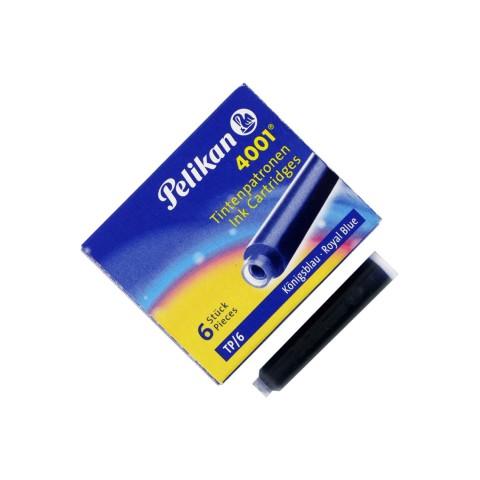 Pelikan 4001 Küçük  Mavi 6 Lı Dolma Kalem Kartuşu