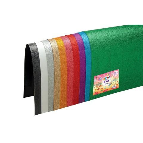 Puti 50x70 Cm 10 Lu Karışık Renk Simli Eva