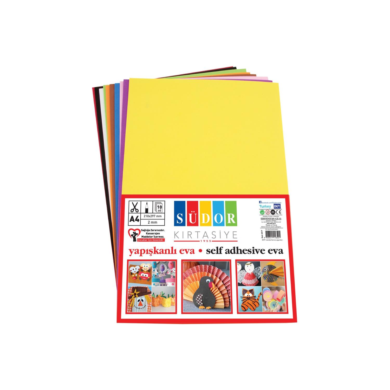 Südor A4 2mm 10 Renk Yapışkanlı Eva