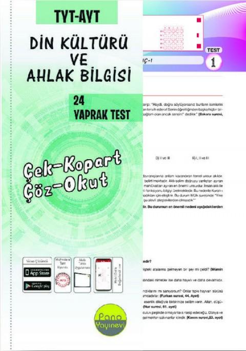 TYT-AYT DKAB Yaprak Testleri (24 Adet) Çek Kopart - Pano