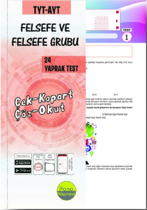 TYT-AYT Felsefe ve Felsefe Grubu Yaprak Testleri (24 Adet) Çek Kopart - Pano