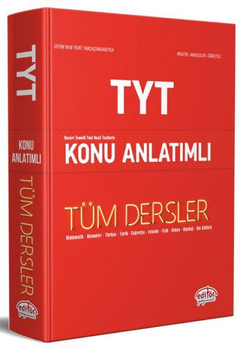 TYT Tüm Dersler Konu Anlatımlı Kırmızı Kitap - Editör