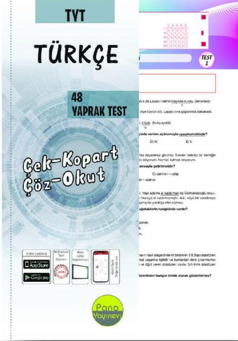TYT Türkçe Yaprak Testleri (48 Adet) Çek Kopart - Pano